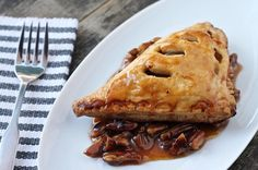 Maple-Apple Turnovers with Pecan Caramel