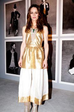 Vanessa Paradis in gold Chanel