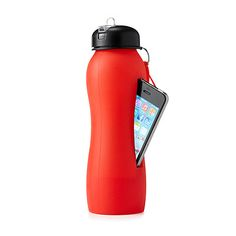 A slot for your iPhone 4 or 5 amplifies songs through the bottom of the bottle as you sip your sports drink