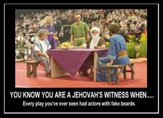When I was little, I actually legitimately thought they were the real bible characters and that they went forward in time just to do the plays.... :D