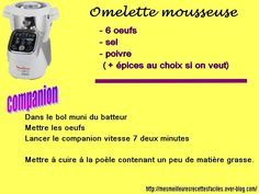 Omelette mousseuse au companion