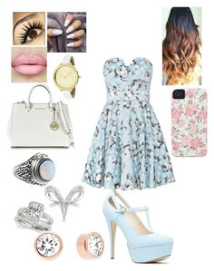 """❤"" by kshanna02 on Polyvore featuring TFNC, Michael Kors, Case-Mate and Allurez"