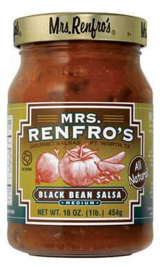 Renfro Foods — Black Bean Salsa. Try this with celery or carrot sticks for a healthy snack.