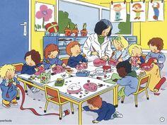 Lekcja plastyki w  przedszkolu