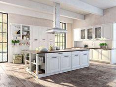Kuchnia bieli z ogromną wyspą kuchenną. Zazdrościmy właścicielom! #design #urządzanie #urząrzaniewnętrz #urządzaniewnętrza #inspiracja #inspiracje #dekoracja #dekoracje #dom #mieszkanie #pokój #aranżacje #aranżacja #aranżacjewnętrz #aranżacjawnętrz #aranżowanie #aranżowaniewnętrz #ozdoby #kuchnia #kuchnie
