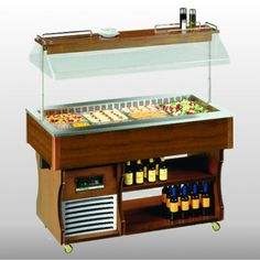 Tecfrigo ISOLA DW Buffet Display is Fully automatic, Interior light with switch and Digital controller & temperature display. Display Homes, Sliding Glass Door, Interior Lighting, Dark Wood, Liquor Cabinet, Kitchen Appliances, Cold, Cool Stuff, Storage
