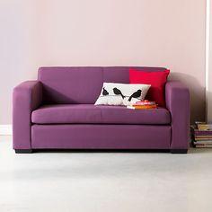 Studio Mousse Canapé lit 2 places prune - déplimousse