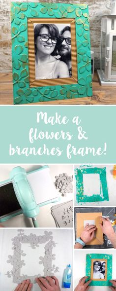 Discover how you can make your own DIY photo frame using brand new Sizzix dies. Your adventures deserve to be shown off in the best light! Photo Frame Decoration, Photo Frames Diy, Baby Art Activities, Baby Frame, Diy Gifts For Friends, Handmade Frames, Diy Arts And Crafts, Paper Crafts, Diy Photo