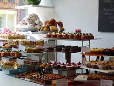 pastries on display at Ottolenghi #London