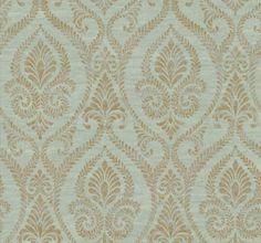 12-31cm-Wallpaper-SAMPLE-Stunning-Designer-Damask-on-Blue