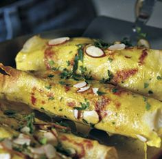 finecooking.com  curry chicken crepes