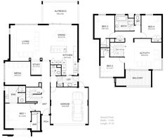 ideas about Double Storey House Plans on Pinterest   Two    House and Land Packages in Perth   Single and Double Storey   APG Homes