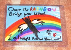 Passed Love -For Sale $20 Includes US Shipping- by TheFlyinFerret.deviantart.com on @DeviantArt Art Cards, Mini Paintings, Us Shipping, Rainbow Bridge, Over The Rainbow, Deviantart, Love, Frame, Amor