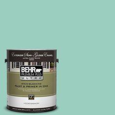 BEHR Premium Plus Ultra 1-gal. #hdc-SM14-6 Thermal Aqua Semi-Gloss Enamel Exterior Paint