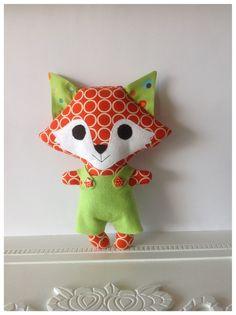 Handmade Cute Fox, Soft Toy, Fox Plush, Stuffed Fox, Kids Toys, Nursery Decor