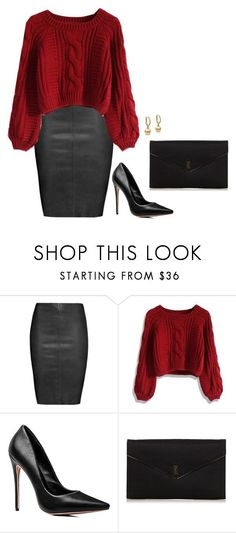 """""""Sem título #2590"""" by mprocedi on Polyvore featuring moda, Jitrois, Chicwish e Yves Saint Laurent"""
