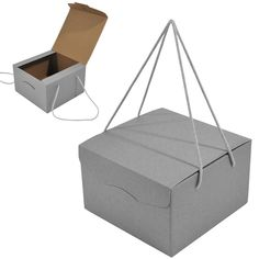 Hampers NEW! Silver Hamper Box with Handles - Hampers - Ideas of Hampers Tips For Successfu Cake Boxes Packaging, Fruit Packaging, Food Packaging Design, Packaging Design Inspiration, Packing Box Design, Shopping Bag Design, Disposable Food Containers, Hamper Boxes, Paper Bag Design
