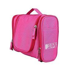 Unisex Damen Herrn Kulturtasche Kulturbeutel hängend Multifunktionale Kosmetiktasche Toilet Bag Wash Bag für Reise (Pink) Fashion Backpack, Backpacks, Pink, Dopp Kit, Voyage, Blue, Bags, Women's, Backpack