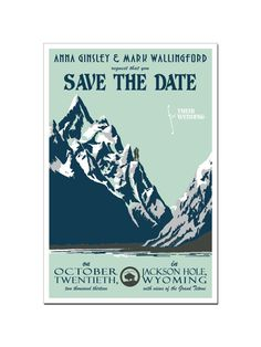 Vintage Mountain Save the Date Postcard (set of 60)