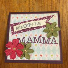 Scrapbooking card Underbara mamma