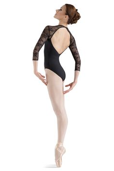 L6016- Lace Bodice Open Back Long Sleeve Leotard - Women's Dancewear & Accessories - Bloch® US Store