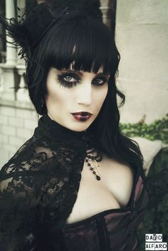 "gorgeous dark-sider girl, giving ""full regalia""... #goth #gothic #fashion #female #model #darksider #portrait #darkheart"
