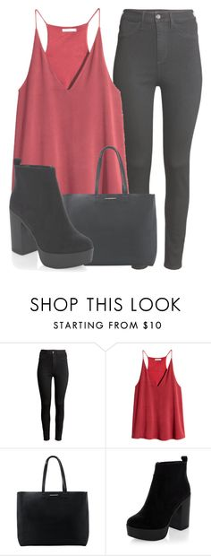 """""""Outfit #1304"""" by sofiaabaarona1998 on Polyvore featuring moda, H&M y MANGO"""