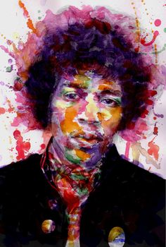 Jimi Hendrix watercolor by Polychromy on deviantArt. #trippy #psychedelic #painting #jimihendrix #woodstock #1960s
