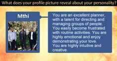What does your profile picture reveal about your personality?