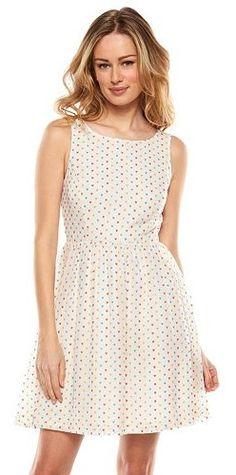 We <3 spring! LC Lauren Conrad Heart Fit & Flare Dress