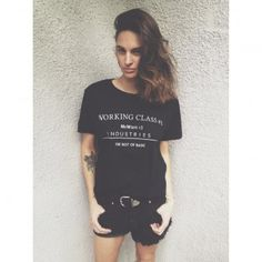 'WORKING CLASS #1' black tee MeWant