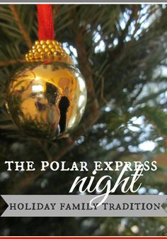 polar express night | make this a fun winter tradition for your family | take a look at how one of my pals makes this a night to remember every year for her nieces, nephews, and kids! | LOVE LOVE LOVE!