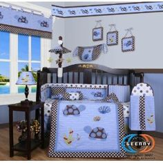 Boutique Sea Turtle 13PCS CRIB BEDDING SET