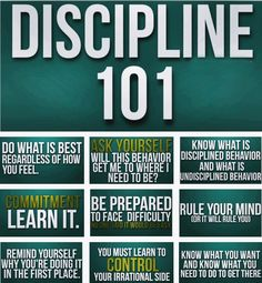Discipline 101 Words of Wisdom, Inspiration and Faith. Positive quotes for a… Discipline Quotes, Self Discipline, How I Feel, How Are You Feeling, Student Leadership, Student Life, How To Slim Down, Self Development, Personal Development