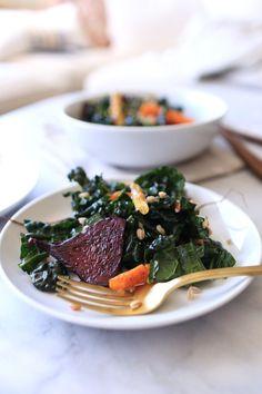 Roasted root vegetable kale salad recipe - @mystylevita