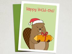 Christmas Card - Happy Holid-ehs - Canada Christmas card – The Imagination Spot