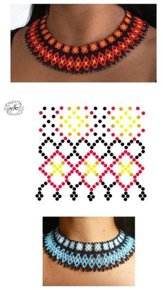 off loom beading Beaded Jewelry Designs, Bead Jewellery, Seed Bead Jewelry, Diy Necklace Patterns, Beaded Earrings, Beaded Bracelets, Necklaces, Zulu, Beading Tutorials