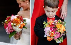 Details of I Do in Princeton arranged these breathtaking colors in the bride's bouquet!