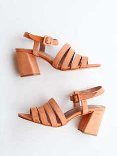 """Maryam Nassir Zadeh Palma Low Heel Sandal. 3"""" block heel. Side buckle. Fits true to size. 100% goat leather Color: Natural Nubuck Made in Turkey"""