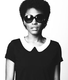"""shaped #afro + peter pan collar. simple and fly. """"Krystal"""" by TYP Photography"""