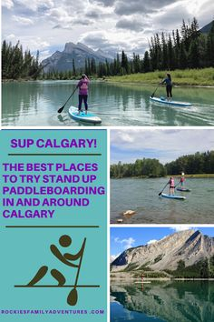 Where to SUP, rent, buy, take lessons, and even try overnight trips near Calgary, Alberta. Canadian Travel, Canadian Rockies, Banff National Park, National Parks, Canoe Club, Kayaking, Canoeing, Visit Canada, Paddleboarding