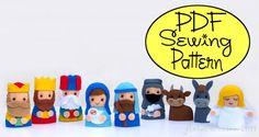 PDF Pattern Nativity Finger Puppets by FloralBlossom on Etsy