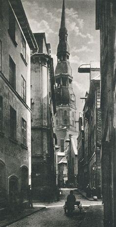 old riga (latvia) 1900 by paul von krshiwoblozki