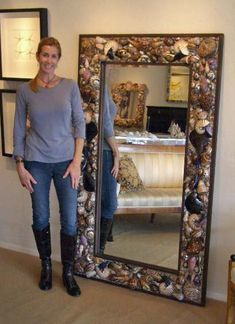 Billed as the #1 Sea Shell Artist in America, Heather Kendall creates one-of-a-kind custom shell mirrors that clients can't get enough of. Questions? Call (813) 629-3439