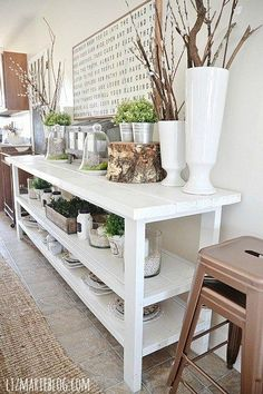 Looking for inspiring ideas for DIY buffets for your dining room?  Check out my inspirations and how I solved my dining room storage problem here!