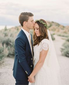 modest wedding dress with border sleeves from alta moda. -- (modest bridal gown).