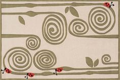 Area Rug for kids, Curly Fern - Hand-Tufted Rug