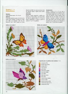 Nice realistic cross stitch butterflies medium size