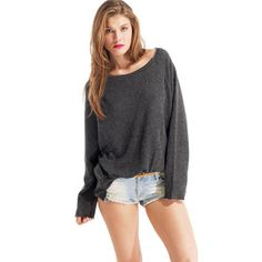 Back Detail Sweatshirt Charcoal....I absloutly love this look...Only $45.00 at Fab.com