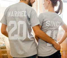 Couple T-shirts set Married since set of 2 by FUNNYARTiSHOCK